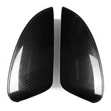 2 PCS Black ABS Carbon Fiber Extetior Side Car Door Back Mirror Covers For Mazda 6 Atenza 2014-2017