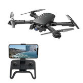 1808 WIFI FPV Dengan 4K Wide Angle Camera Optical Flow Altitude Tahan Mode Lipat RC Drone Quadcopter RTF
