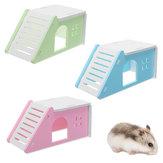 Pet Mouse Hamster Evi Villa Kafesi Yatağı Kaldırılabilir Merdiven Pencere Yuvası Egzersiz Oynayıcısı