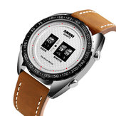 SKMEI 1516 Business Style Creative Dial Leather Quartz Watch