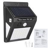 防水IP44ソーラーモーションセンサーライト人体誘導ソーラーウォールランプ屋外ガーデンヤードランプ