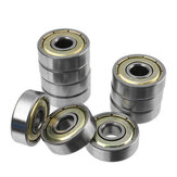 Ruote per pattini con cuscinetto a sfera in acciaio al carbonio ad alto tenore da 10 pezzi per cuscinetti per skateboard