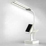 2 500 mAh duální hlava LED stolní lampa bez stínu světlo pro čtení, ochrana očí, dotykové ovládání, otočná dobíjecí stolní lampa