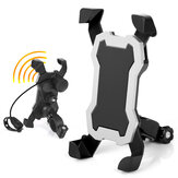 BIKIGHT 3.5-6.5in Universal Bike Phone Holder 360° Rotation Shakeproof Motorcycle Cycling Phone Support Stand With Horn
