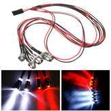 4Leds LED Light Set Headlight Lampu Belakang untuk 1/10 1/8 Oil Electric Rc Car Model Parts