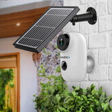 GUUDGO A3 Conjunto de câmera e painel solar 1080P Câmera de segurança sem fio recarregável alimentada por bateria à prova d'água