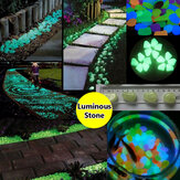 10pcs Aquarium Fish Tank Luminous Glowing Stone Aritificial Pebble Stone Aquarium Garden Decoration