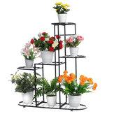Ferro multicamada Planta Stand Holder Vaso de flores Interior Externo Planta Estantes de exposição para sala de estar com varanda