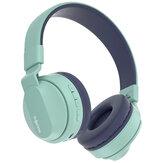 FINGERTIME BOBO1 Kinderhoofdtelefoons Draadloze bluetooth-headset FM-radio TF-kaart AUX-In Ruisonderdrukking Hoofdmontage Koptelefoon voor kinderen met microfoon