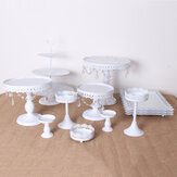 12PCS Vintage Crystal Cake Holder Cupcake Girevole Torta Stand Dessert Piatto Display Partito