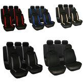 Carro universal duas capas de assento cinco conjunto protetor de poeira almofada de assento de carro completo