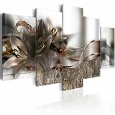 5 Panels Large Abstract Flowers Print Pictures Canvas Prints Unframed Paintings for Home Decorations