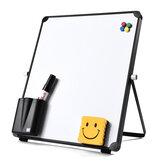 Lembrete de planejador de quadro branco pequeno portátil de um lado branco branco com suporte para escola, escritório doméstico, artigos para quadro de crianças