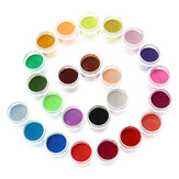 24 kolory Acrylic Manicure Nail Art Powder Dust Decoration