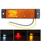 3 LED Side Marker Lights with Rear Reflector Indicator 12-24V Amber/Red/White For Truck Lorry Trailer