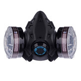 Anti Dust Gas Respirator Safety Eye Goggles Protector Breathing Half Face Mask