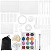 83x Silicone Conjunto de ferramentas para molde de fundição de resina DIY Pingente Fabricação de pulseiras de joias