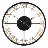 Iron Round Art Wall Clock Creative European Style Clock for Home Living Room Wall Hanging Decoration