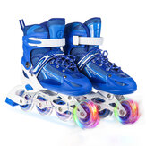 Adjustable Inline Skates Speed Skates Professional Sneakers Roller Blades with 1 Flashing Wheel for Kids Teen Adult