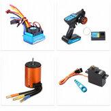 Wltoys 144001 124018 124019 RC Car Upgraded Brushless 3650 4300KV Motor 120A ESC 21G Servo TX RX Combo Set Parts