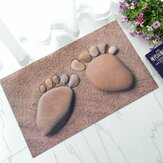 Rubber Doormat 3D Chic Home Rug Baby Foot Area Rug Carpet Bathroom Anti-slip Floor Mat
