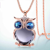 Collier pendentif mignon strass Colorful Animaux Night