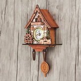 Vintage Cuckoo Wooden Wall Hanging Swing Clock Alarm Number Sheep Kid Home Decor