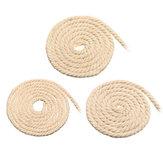 4/5 / 6mm Makramee-Seil Naturbeige Baumwolle Twisted Cord String DIY Schmuck Armband Handwerk