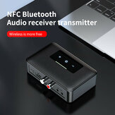 Bakeey NFC BT19 bluetooth 5.0 Receiver Transmitter 3.5mm AUX LED Indicator Headset Adapter Car Audio Player