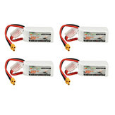 4Pcs XF Power 14.8V 850mAh 4S 70C Lipo Batteria XT30 Spina