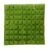 72 Pocket Vertical Greening Hanging Wall Garden Planting Bags Wall Planter New