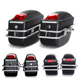 Moto Grande Equipaje Bolsa Capacidad Sidebags Hard Trunk With Light