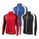 WOSAWE Cycling Top Mountain Bike Men Cycling Jersey Color-blocking Long Sleeve Outdoor Sports Breathable Cycling Jersey