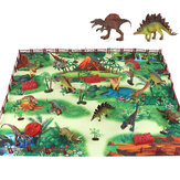 28/33/34/63/65Pcs Multi-style Diecast Dinosaurs Model Play Set Educational Toy with Play Mat for Kids Christmas Birthday Party Gift