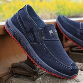 Men Old Peking Comfy Breathable Slip On Casual Canvas Shoes