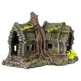 Resin Sculpture Model Fishtank Decorations Hideing Hole Aquarium Rockery Landscaping Castle For Home Decoration
