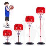 49-150cm Soporte de aro de baloncesto ajustable Soporte de tablero de baloncesto Juego de juguetes para niños con bomba de aire de baloncesto