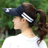 Stripe Visor Super saugfähiger atmungsaktiver Baseball Hut