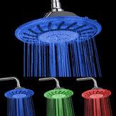 8 polegadas LED Cabeça de chuveiro redonda chuveiro de chuva Mudança de temperatura