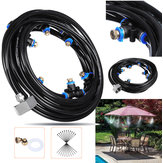 10M+3M Outdoor Mist Coolant System Water Sprinkler Garden Patio Mister Cooling Spray Kits Micro Irrigation Set With 19 Spray Nozzles