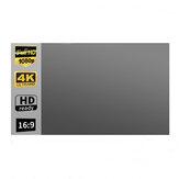 Tela do projetor de metal anti-luz de 100/120 polegadas portátil dobrável 16: 9 Full HD Cinema em casa ao ar livre
