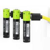 ZNTER S17 1.5V 400mAh USB Oplaadbare AAA Lipo Batterij