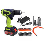108VF 12800mAh Dual Speed Cordless Drill Multifunctional High Power Household Electric Drills W/ Accessories