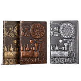 Relief Retro Notebook A5 Machine Theme Vintage Hardcover Diary Notebook Gift Stationery Writing Business Office Gift Notepad