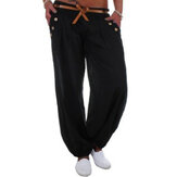 Women High Waist Solid Color Pockets Cargo Pants