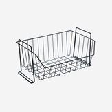 Stackable Iron Mesh Basket Cabinet Door Organizer Rack Closet Holders Storage Basket Rack Organizer
