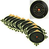 10Pcs 8inch 20cm Alvo de tiro com arco Alvo de tiro autoadesivo para treinamento esportivo de caça