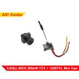 Eachine VTX02 + Foxeer Pico Razer Mini FPV Transmitter Camera Combo 5.8GHz 40CH 200mW VTX 1200TVL 12*12mm CMOS Mini CAM SET Support 3.2-5.5V for RC Racing Drone