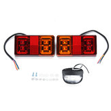 12V 16 LED Car Tail Light 4 LED License Plate Lamp for Truck Trailer Boat
