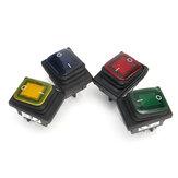Encendido apagado-On 4 Pin 12V luz LED Interrupto de conmutC.Aión de basculado Impermeable Para Coche barco